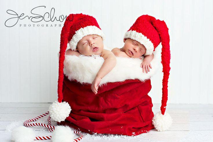 Christmas twins @Stefanie W Morris cute idea!