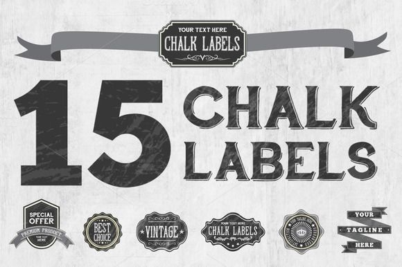 Check out Chalk Badge Labels by Domo Designs on Creative Market