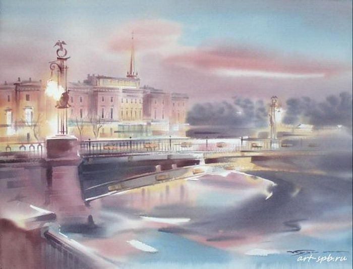 Зимний вечер в Петербурге
