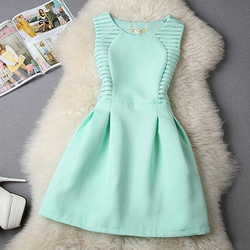 Vestidos 2015 Womens Dress Casual Summer Style Mini O Neck Sleeveless Solid Elegant Short Evening Party Dresses Plus Size -in Dresses from Women's Clothing & Accessories on Aliexpress.com | Alibaba Group