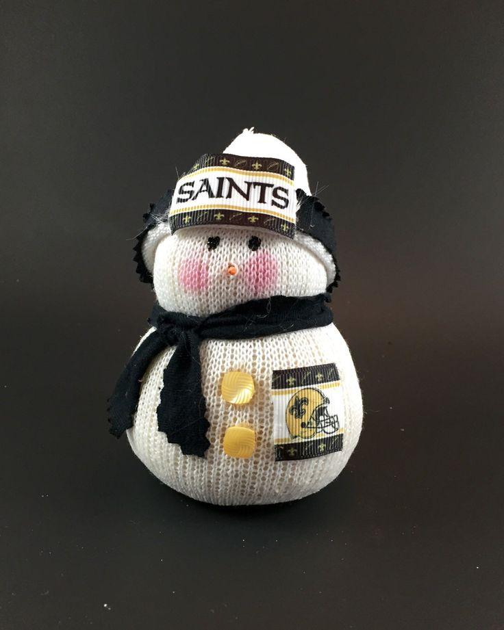 New Orleans Saints, New Orleans Saints collectible, New Orleans Saints accessory, New Orleans Saints snowman, New Orleans Saints gift by Andreaswishcraft on Etsy