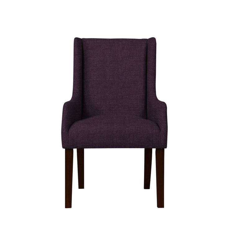 Emma Arm Chair with Hallow Fabric 696, Purple