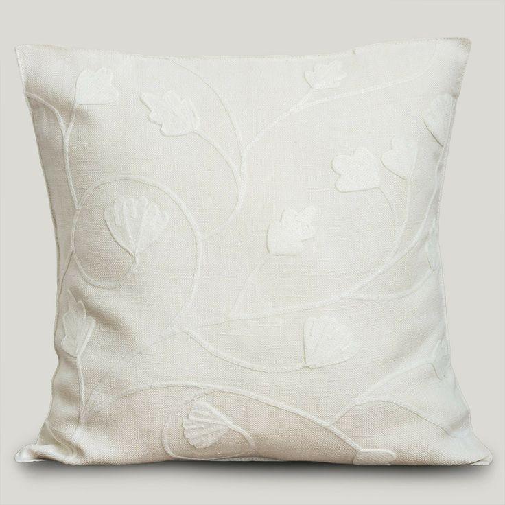 Almofada Linho Firenze Floral No. 4 Marfim #ItsyDesign #decoração #interiores