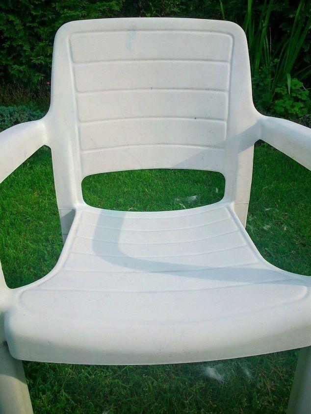 καρέκλες κήπου που καλύπτεται με χαρτοπετσέτες ΙΚΕΑ, decoupage, έπιπλα εξωτερικού χώρου