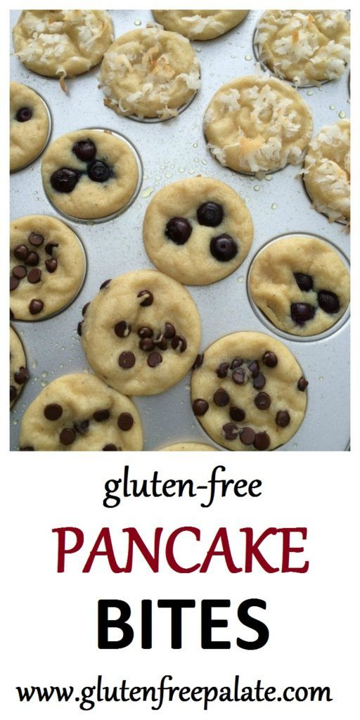 Gluten-Free Pancake Bites are an easy and quick breakfast that everyone in your family will love. Mix, scoop into a mini muffin pan, bake, and dip!