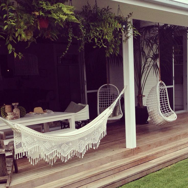 Byron Bay Hanging Chairs perched perfectly at Byron Beach Abodes