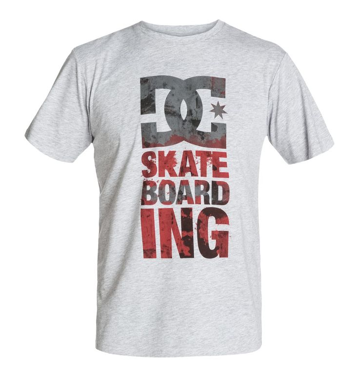 DC Heather Grey Tower SS T-shirt Skateboarding