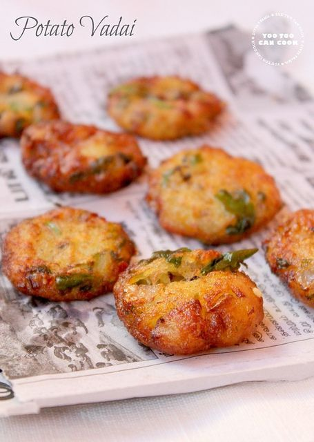 Easy to make Potato vada! Super addictive and perfect tea time snack...