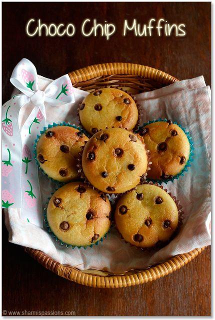 muffin coklat cip tanpa telur