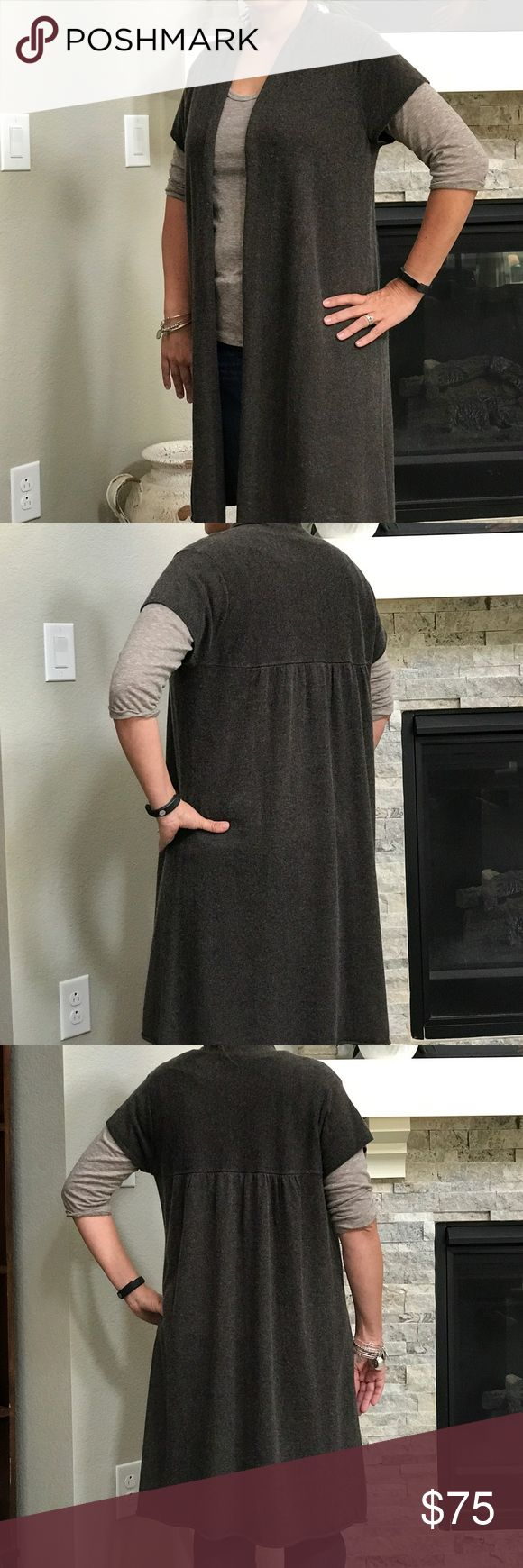🔥Eileen Fisher🔥Silk and Cashmere Long Cardigan This is an EILEEN FISHER ❤❤🔥SPECIAL SILK AND CASHMERE HEATHER BROWN CARDIGAN. ❤❤❤ Firm Price and this was Originally $375!!!! Eileen Fisher Sweaters Cardigans