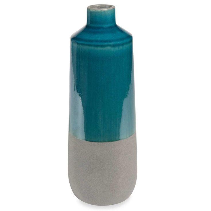 Vase en céramique bleue H 32 cm PORTOBELLO