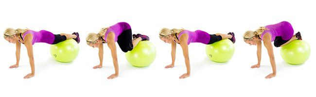 Stability ball mountain climbers 9+Moves+To+Shrink+Your+Muffin+Top