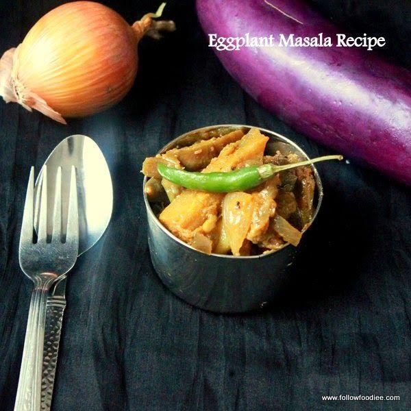 Eggplant Masala Recipe  ,- Easy sides Recipe  #followfoodiee #Recipe #Easy #Vegan