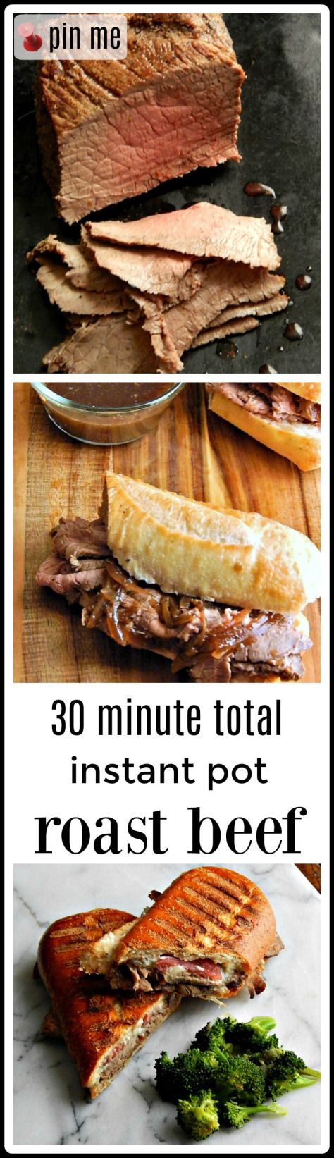 Instant Pot Roast Beef - from start to finish in 30 minutes! Total, including coming to pressure and release. The Roast if fantastic, but the leftovers? Even better!!