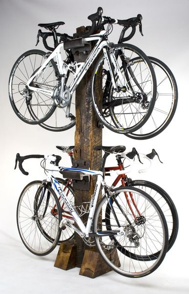 Heavy duty railroad tie and rail Quad Bike Rack