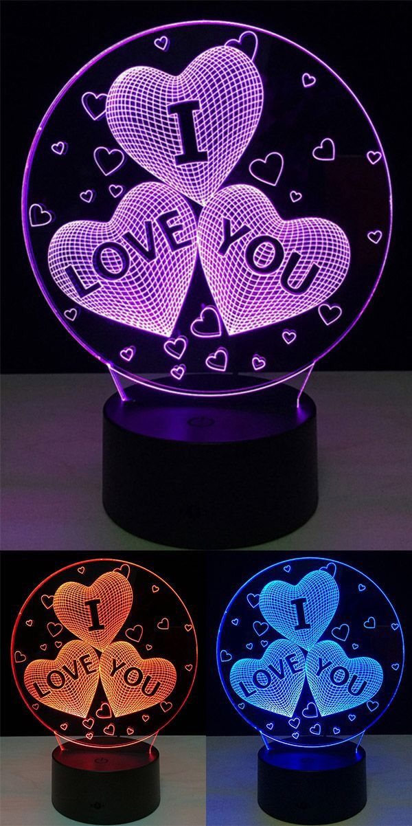 diy led night light wall sconce 3d led lamp diy valentines day ideas in 2018 pinterest night