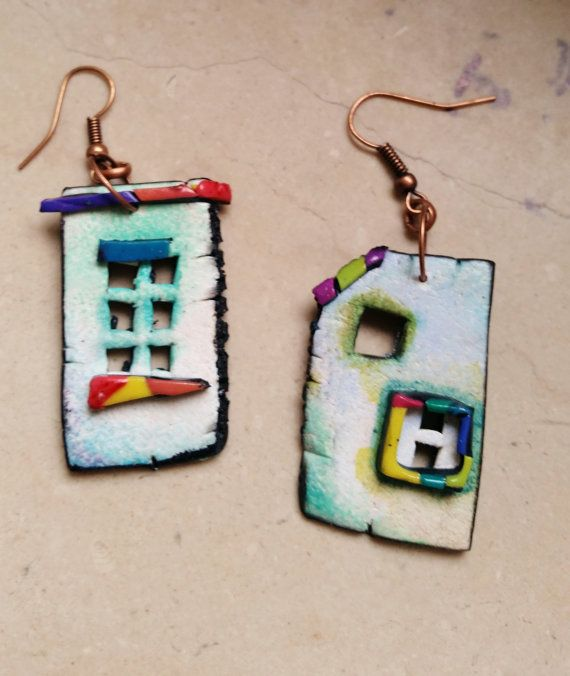 Hey, I found this really awesome Etsy listing at https://www.etsy.com/listing/265207780/polymer-clay-home-sweet-home-earrings