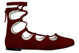 Sapatilha Vinci Shoes Lace Up Doll bordeaux Vinho