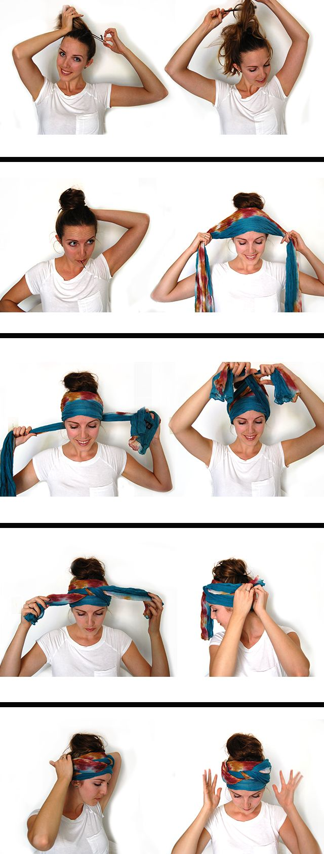 HALLOWEEN // snake charmer costume head scarf wrap and hair