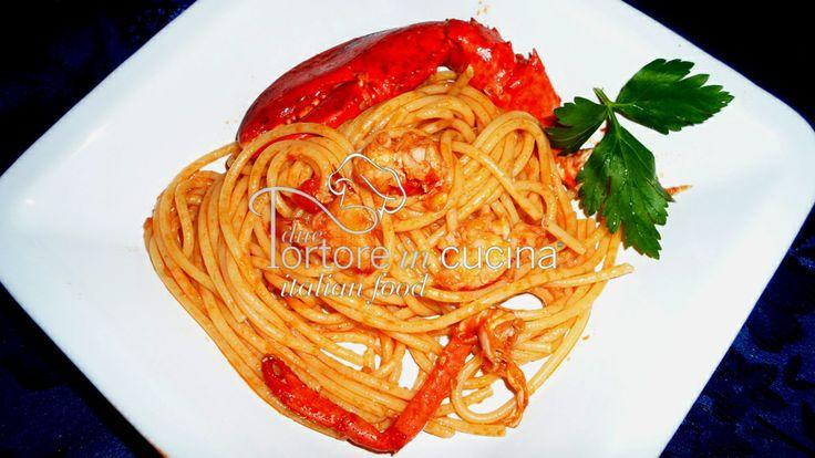 Spaghetti all'astice  La ricetta qui: http://www.duetortoreincucina.com/it/recipes/first-course/italiano-spaghetti-allastice/