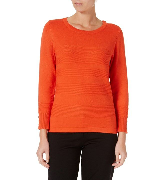 W.Lane Rib Trim Sweater