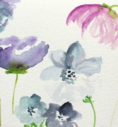 Virágos tavaszi kép vízfestéssel lépésről-lépésre (akvarell) / Mindy -  kreatív ötletek és dekorációk minden napra