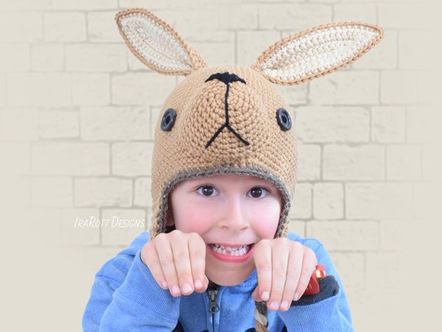 bc0878ab732 Kangaroo Joey Animal Hat PDF Crochet Pattern With Instant Download by  IraRott