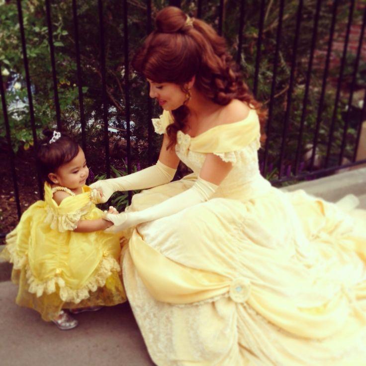Halloween baby one year old costume Disney princess Belle