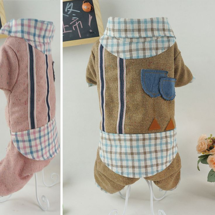 2015 Pet clothes  high-quality thick hip-hop style sub splicing woolen cotton feet