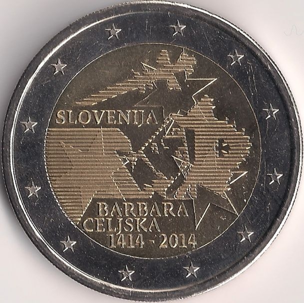 Motivseite: Münze-Europa-Mitteleuropa-Slowenien-Euro-2.00-2014-Barbara Celjska