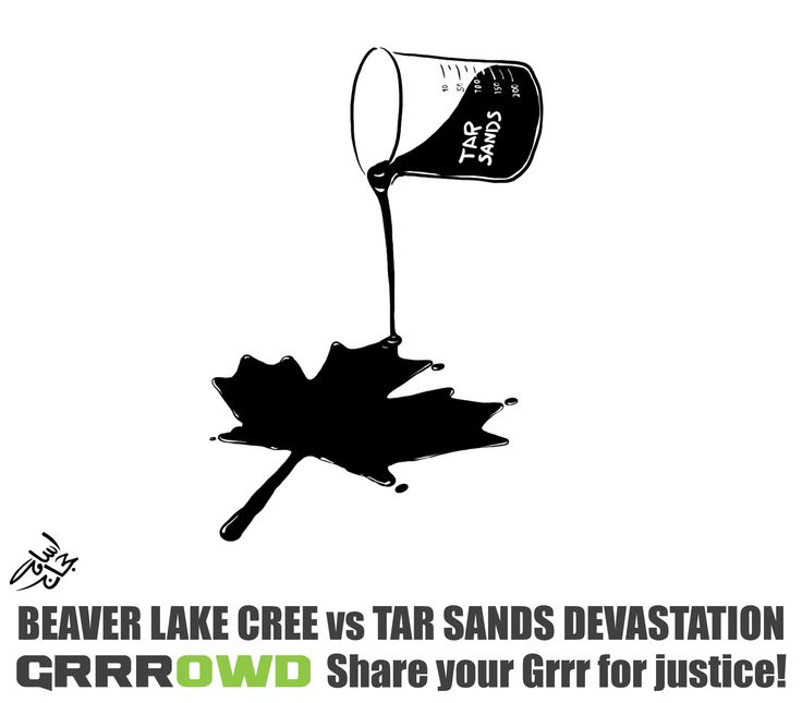 Grrrowd Cartoon - Tar Sands - Osama Hajjaj (LOWRES)