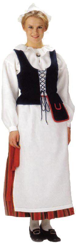 Sulkavan naisen kansallispuku. Kuva © Helmi Vuorelma Oy