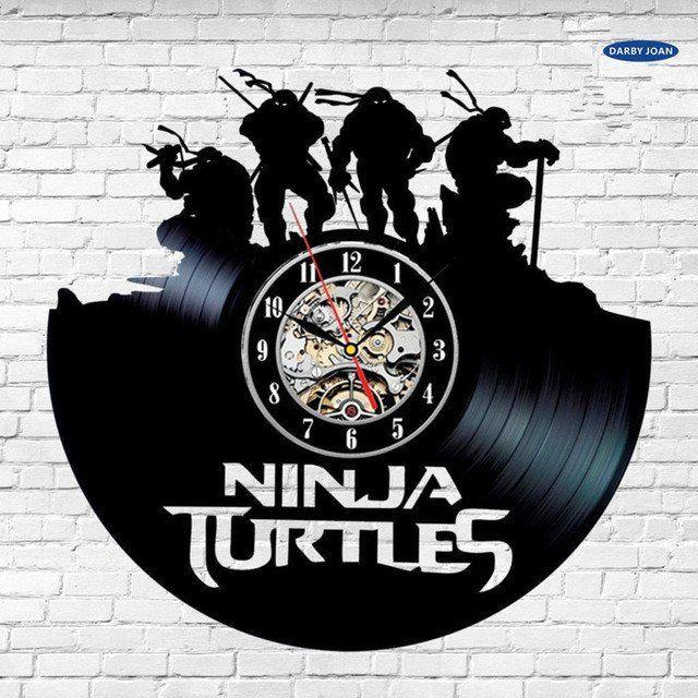 Teenage Mutant Ninja Turtles Vinyl Record Wall Clock