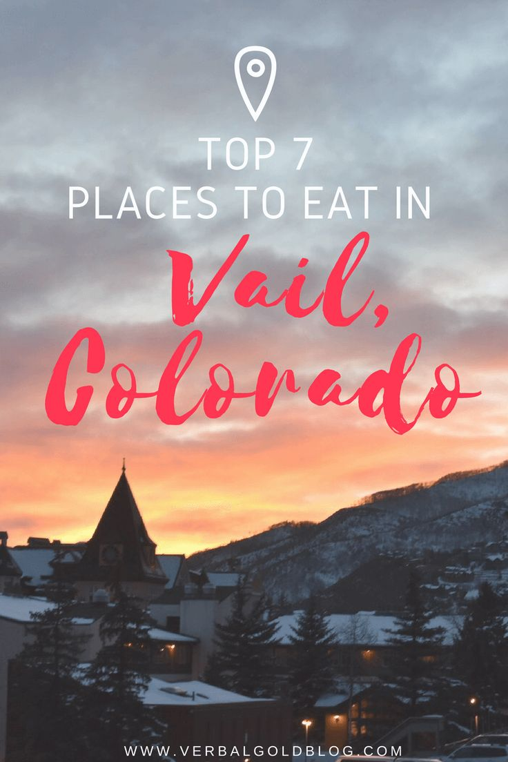 places to eat in vail colorado