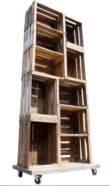 Retail Fixtures- Rustic Apple Crate Display Unit Available at�