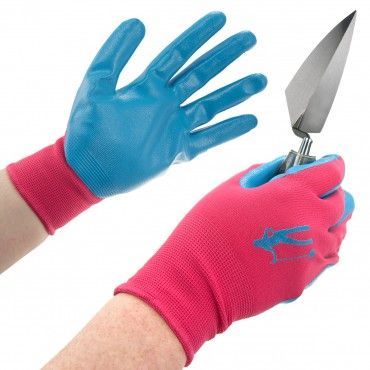 3 Pairs Women's Nitrile Coated Touchscreen Gardening Gloves