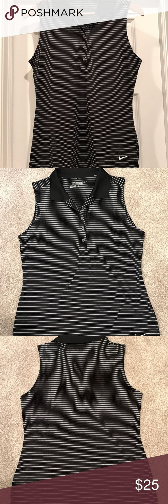 Nike 🏌 Women's Golf This Nike sleeveless golf shirt is dry fit technology, bound to enhance your game!! Even if it's because you just look good 😊 super comfy, barely worn--no signs of wear rips/stains/tears/smells. Make an offer, before you hit the links again! Smoke free home. Nike Tops Tank Tops