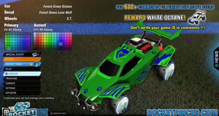 Pin by rocketprices on rocket league car designs green