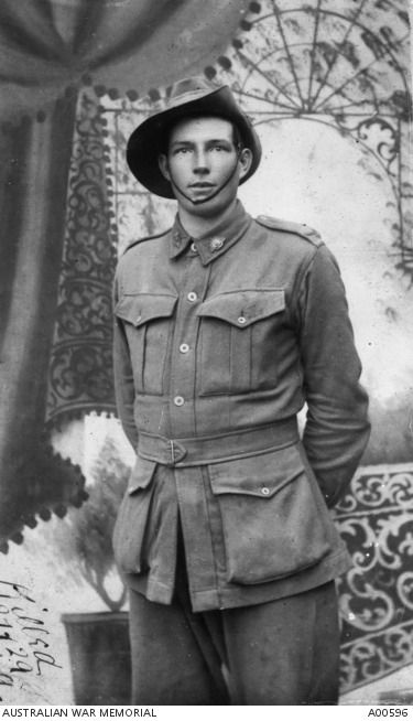 Private Herbert Gibbs, a farmer from Darkan, WA, of the 28th Australian Infantry Battalion. Pte Gibbs was killed in action on 27 August 1916 at Pozieres, aged 20 years and 10 months.
