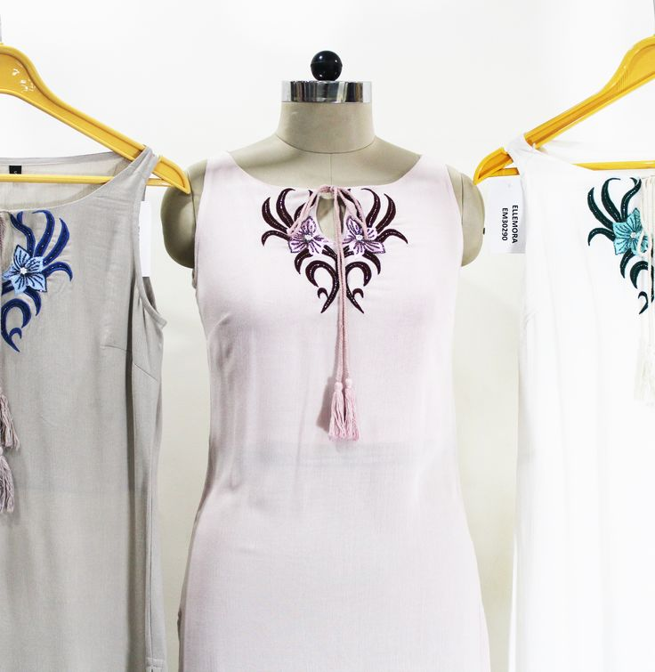 Embroidered cut-sleeves kurti.......a perfect amalgamation of indo-western fusion.