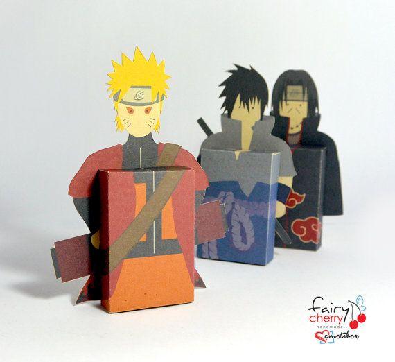 Naruto Sasuke Itachi Fridge Magent Emotibox Greeting Card