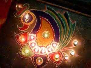 Peacock Rangoli peacock-rangoli-designs9