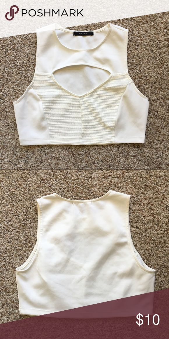 Cream Crop Top! New, no tags! Never wore! Forever 21 Tops Crop Tops