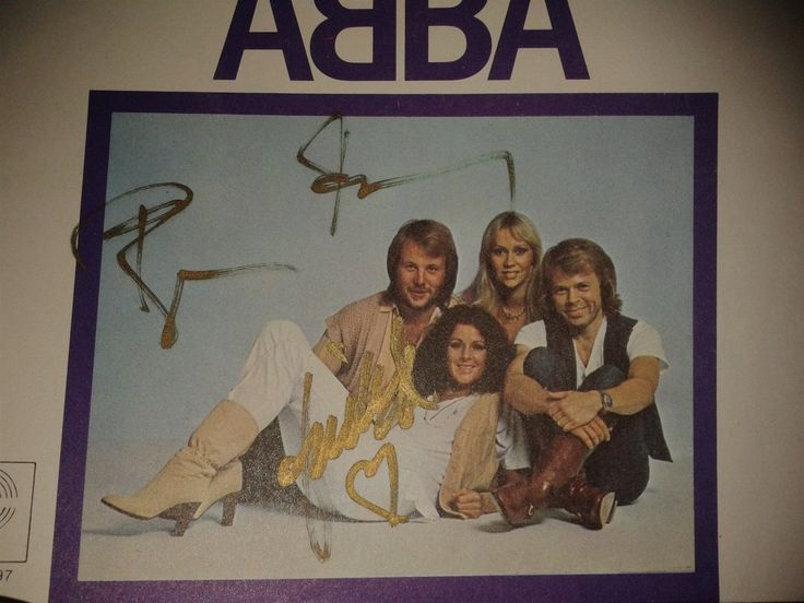 Annons på Tradera: ABBA Chiquitita Japanese signed single immaculate condition
