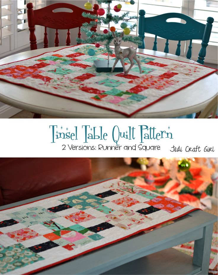 Tinsel Table Quilt Pattern - Free Quilt Pattern - Christmas Quilt - Cotton + Steel Fabrics - Christmas
