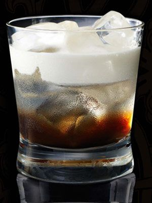 White Russian. 5 parts Russian Standard vodka, 2 parts coffee liqueur, 3 parts fresh cream. Pour coffee liqueur and Russian Standard vodka over ice and stir gently. Float fresh cream on top