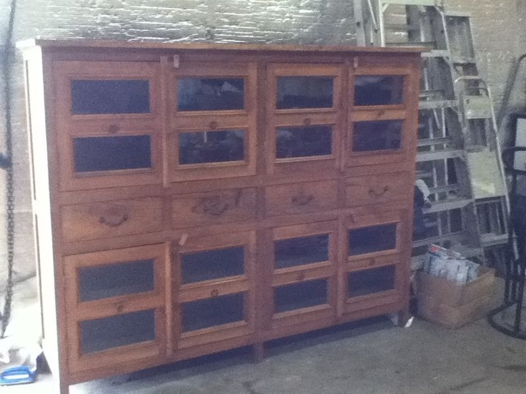 Antique general store display cabinet from Quebec. On