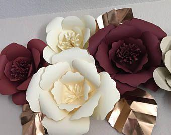 Paper Flower Backdrop Wedding Centerpiece Giant Flowers