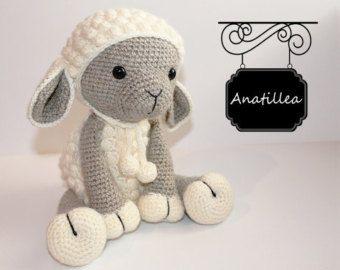 PATTERN: Sheep Amigurumi lamb Crochet tutorial por KristiTullus