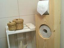Toilettenpapierhalter Holz klein UNBEHANDELT